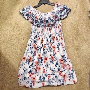 2/$25 Off Shoulder Floral Dress